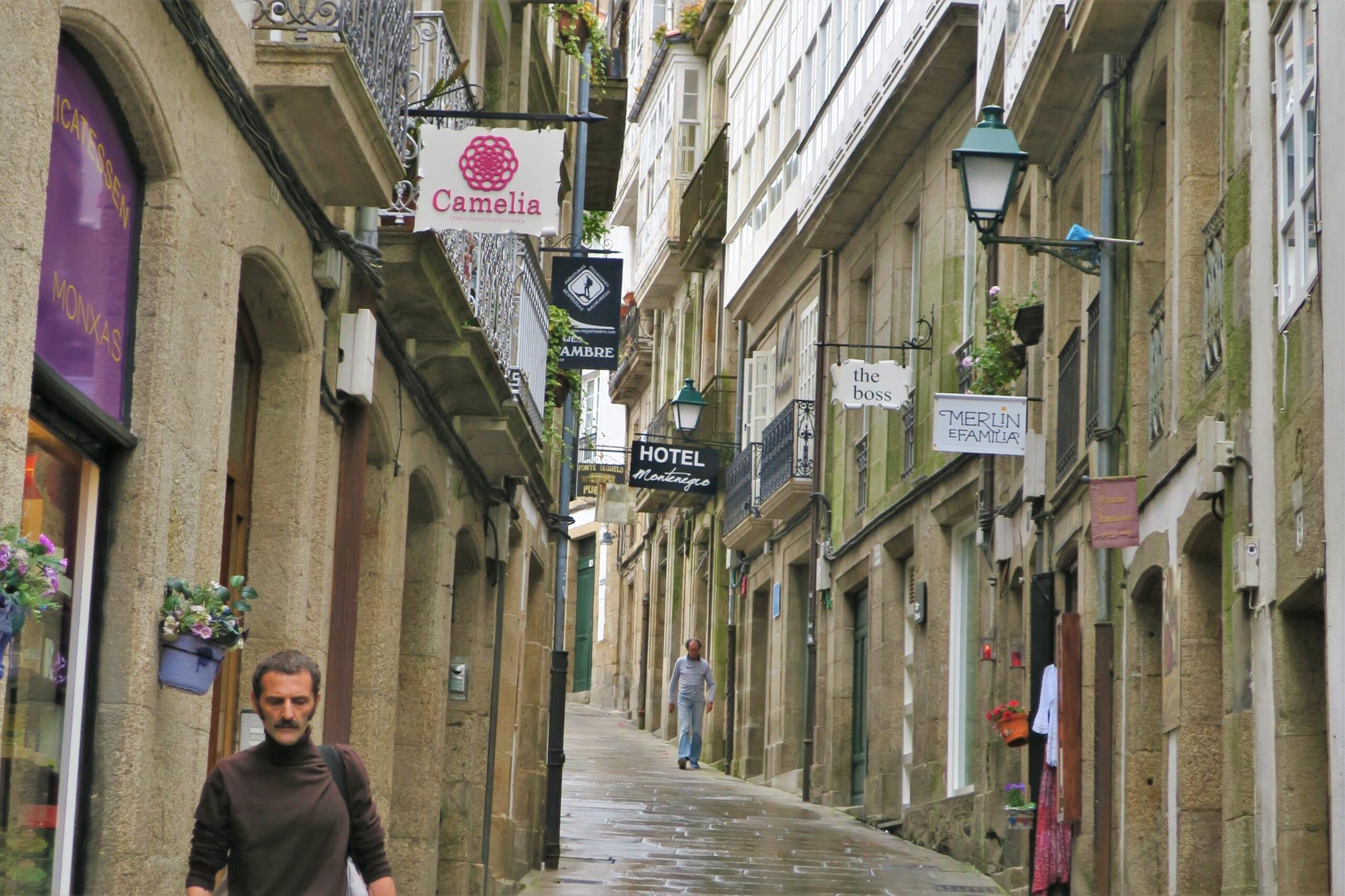北スペインの観光スポットであるガリシアのサンティアゴ・デ・コンポステーラ旧市街