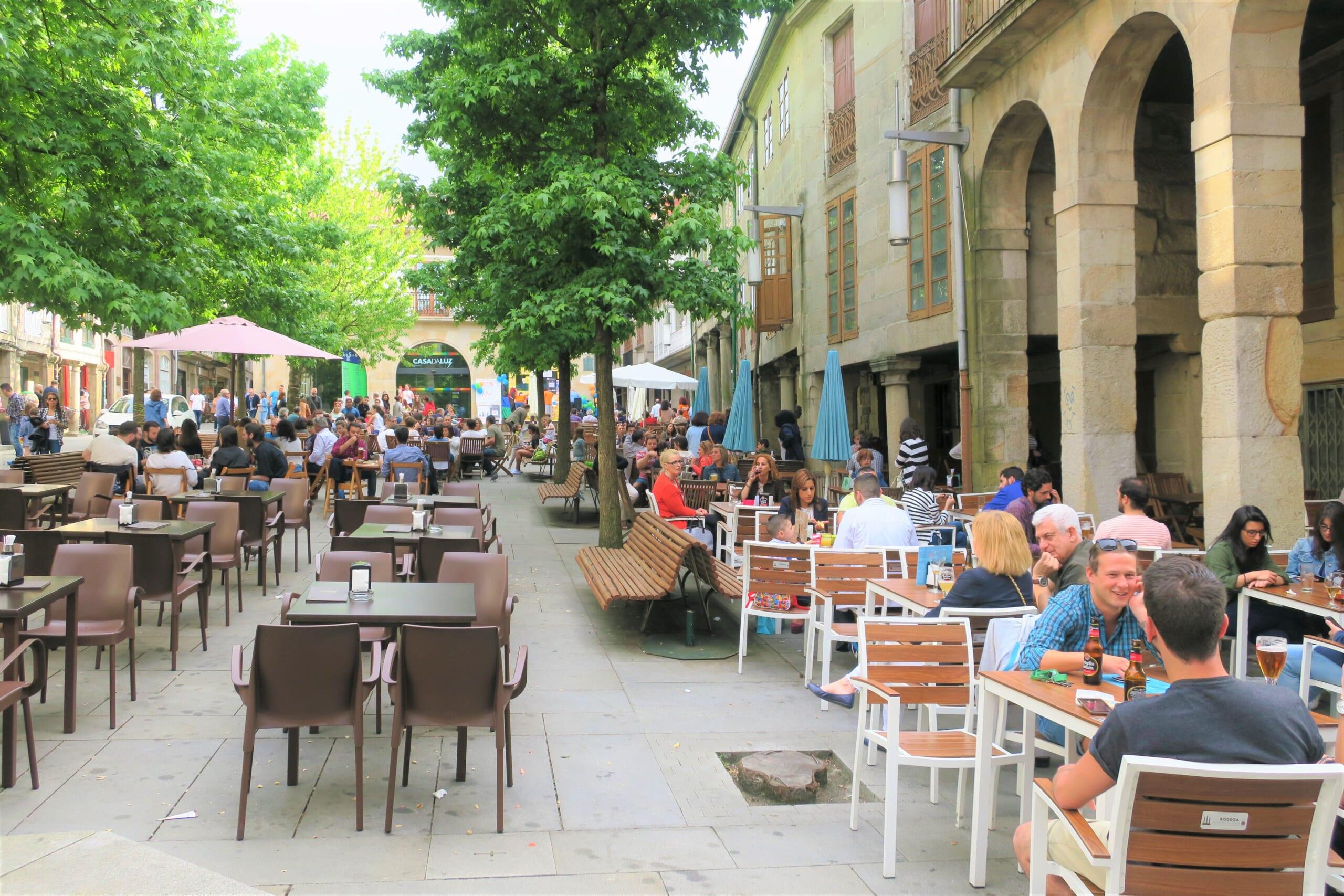 北スペインの観光スポットであるガリシアのポンテベドラ旧市街