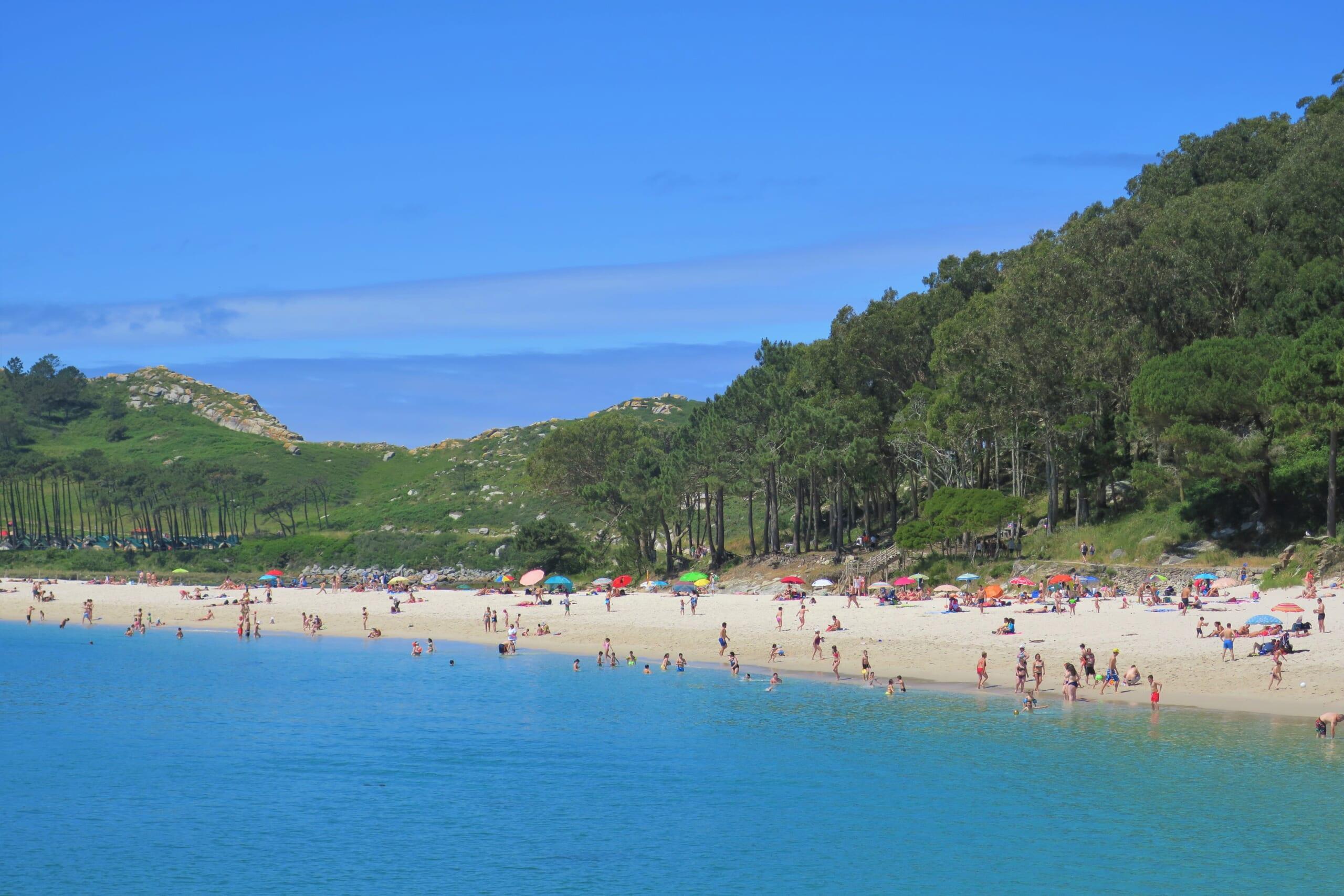 北スペインの観光スポットであるガリシアのシエス諸島