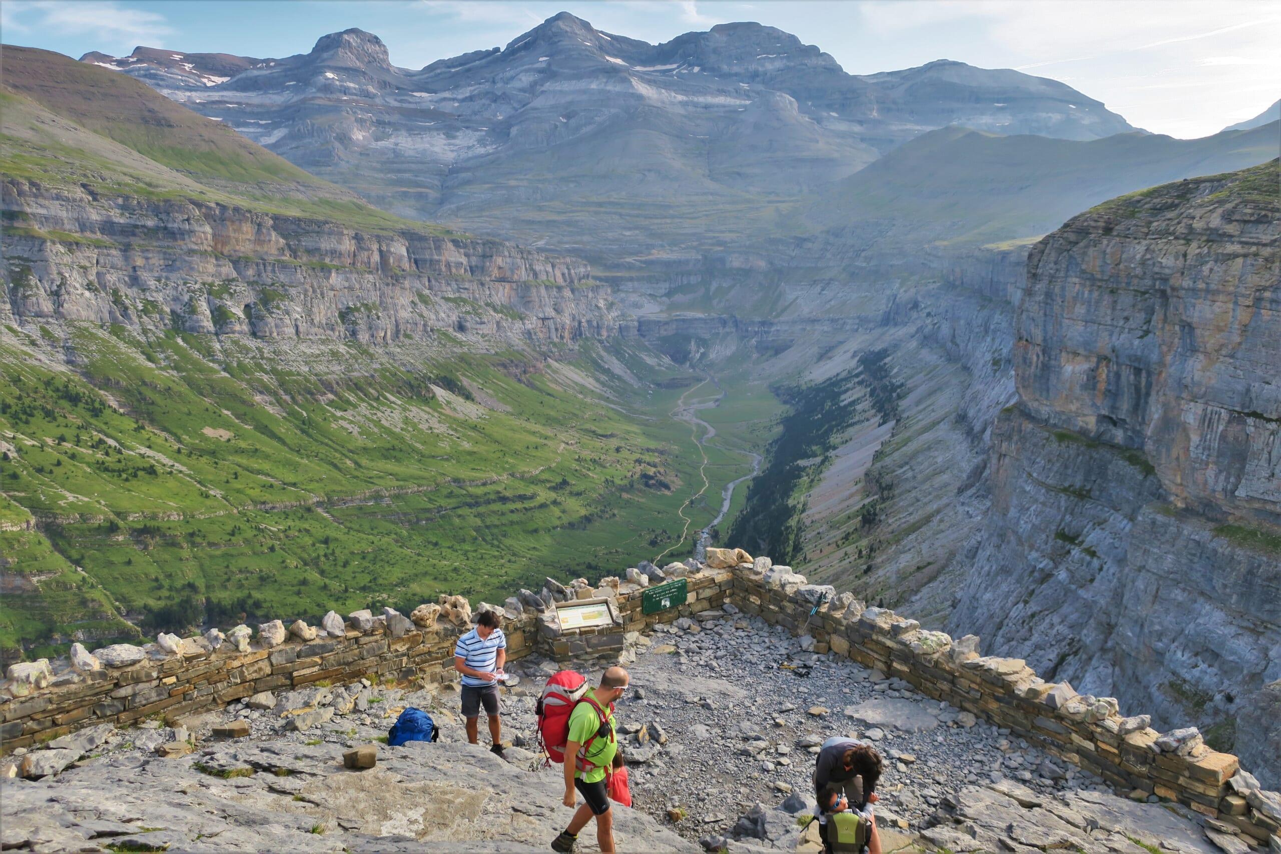 北スペインの観光スポットであるアラゴン・ピレネーのオルデサ国立公園