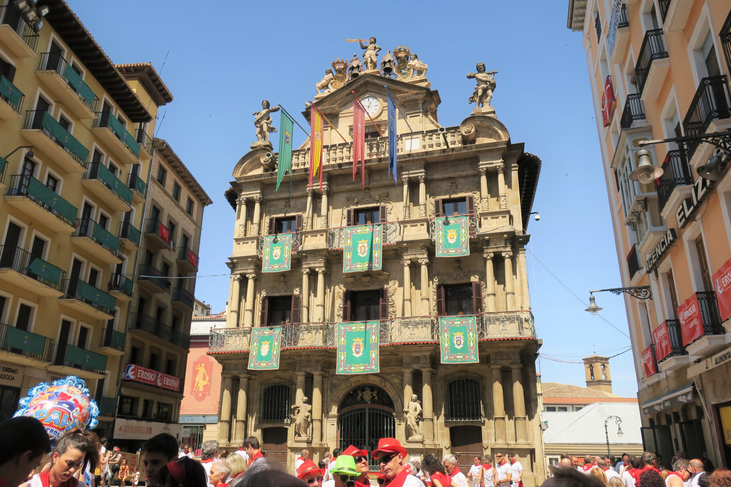北スペインの観光地であるナバラのパンプローナ