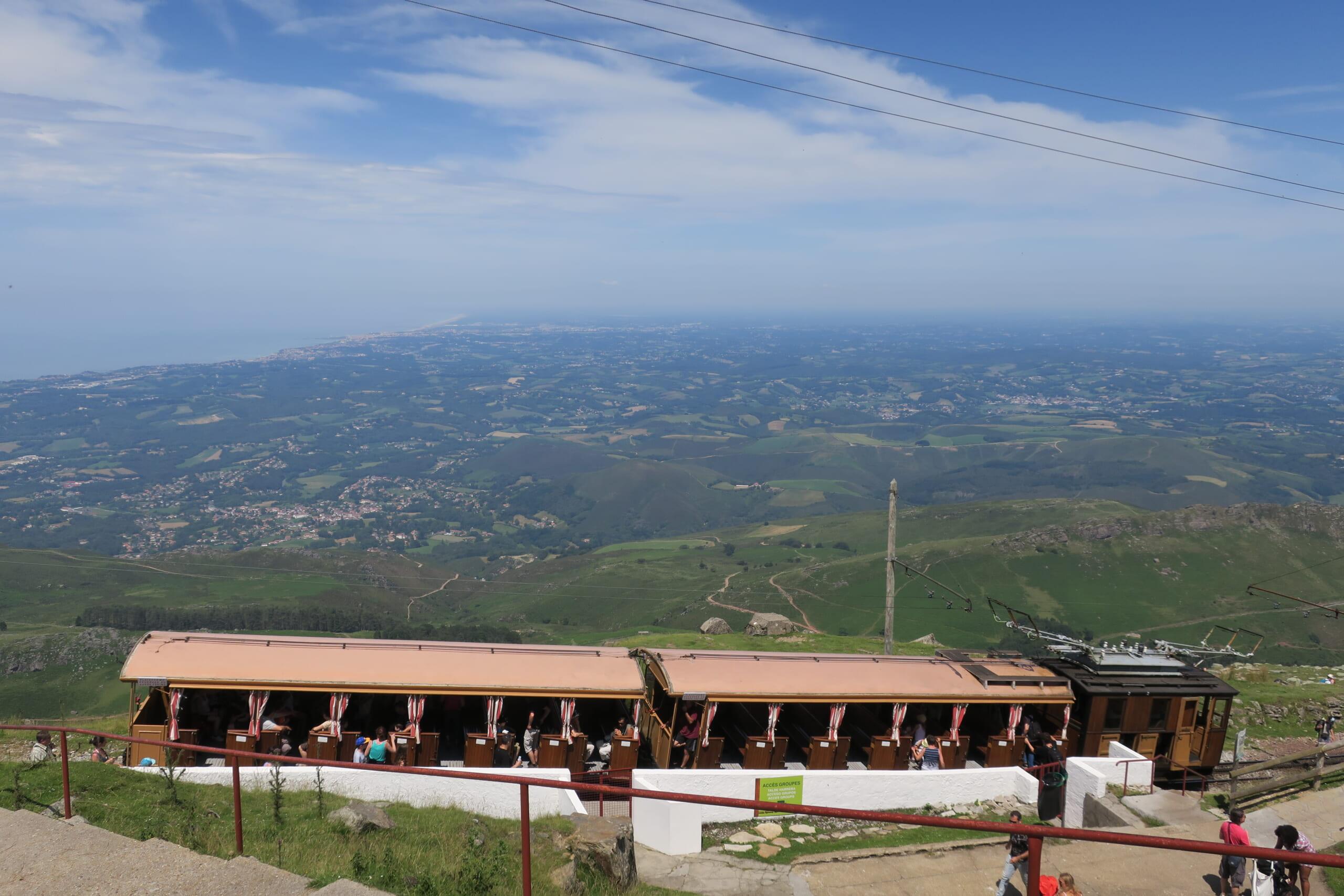 フレンチバスクのラ・リューヌ登山列車