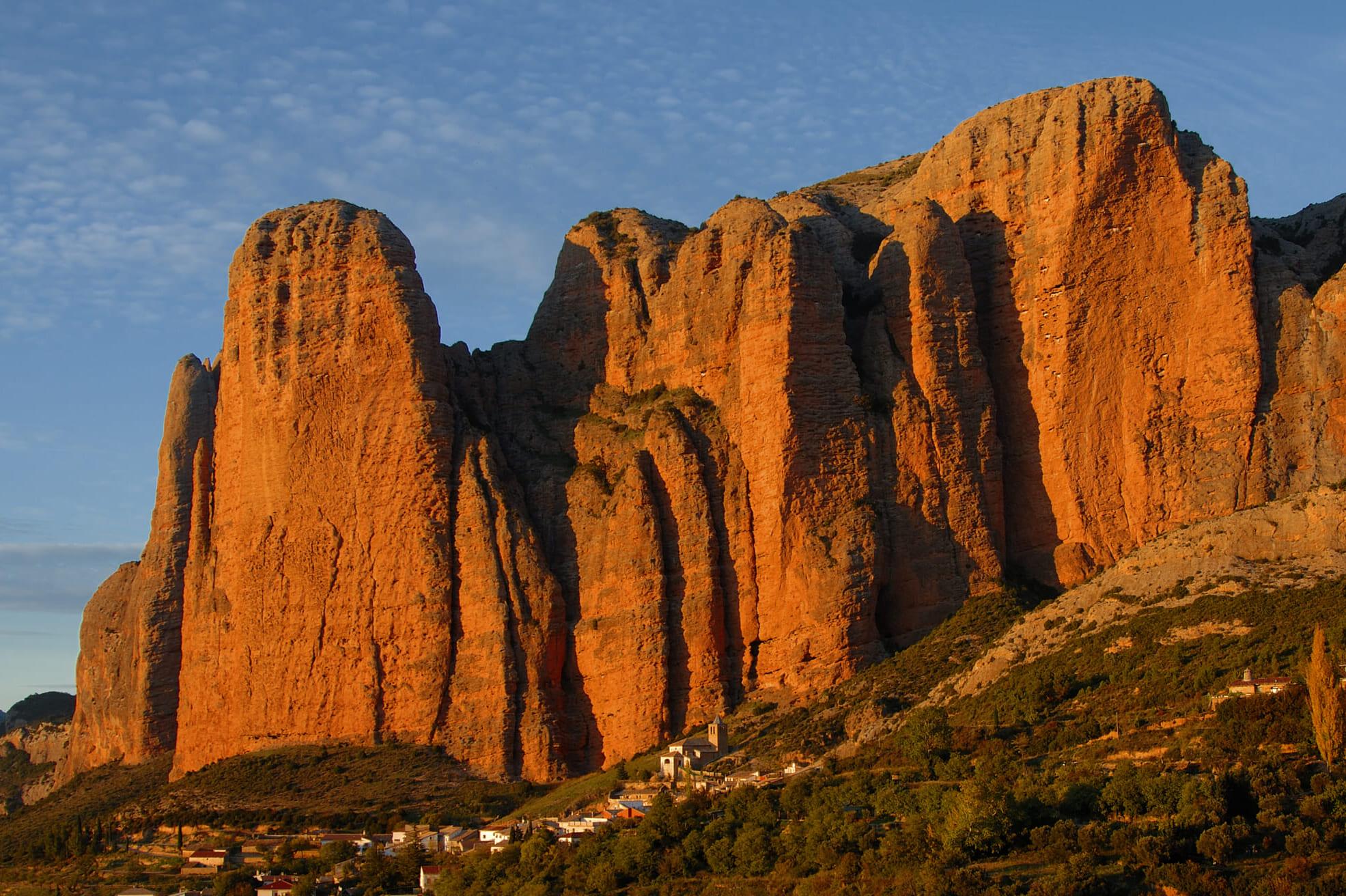 スペインの観光スポットであるアラゴンのリグロス