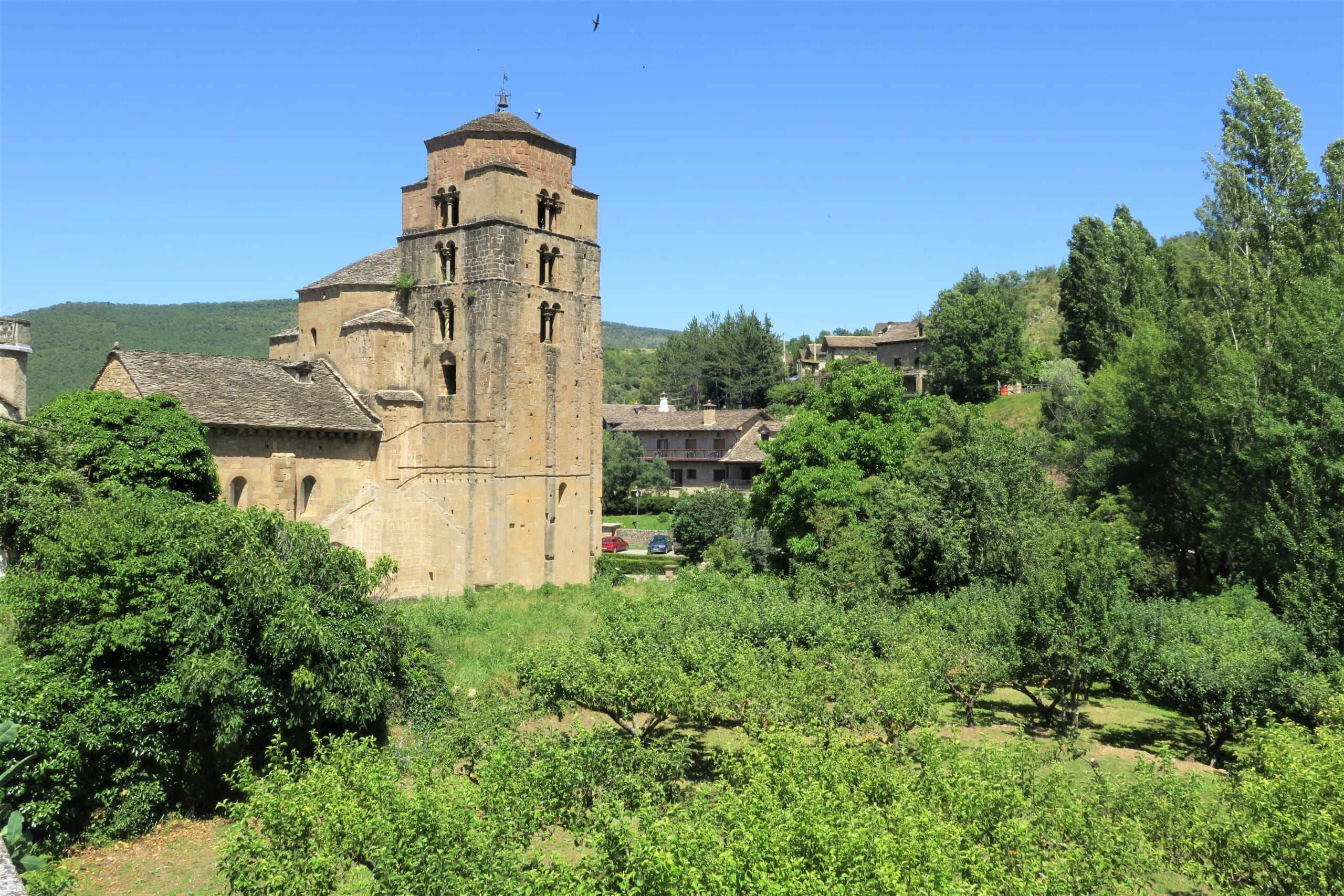 北スペインの観光スポットであるアラゴンのサンタ・クルス・デ・ラ・セロス