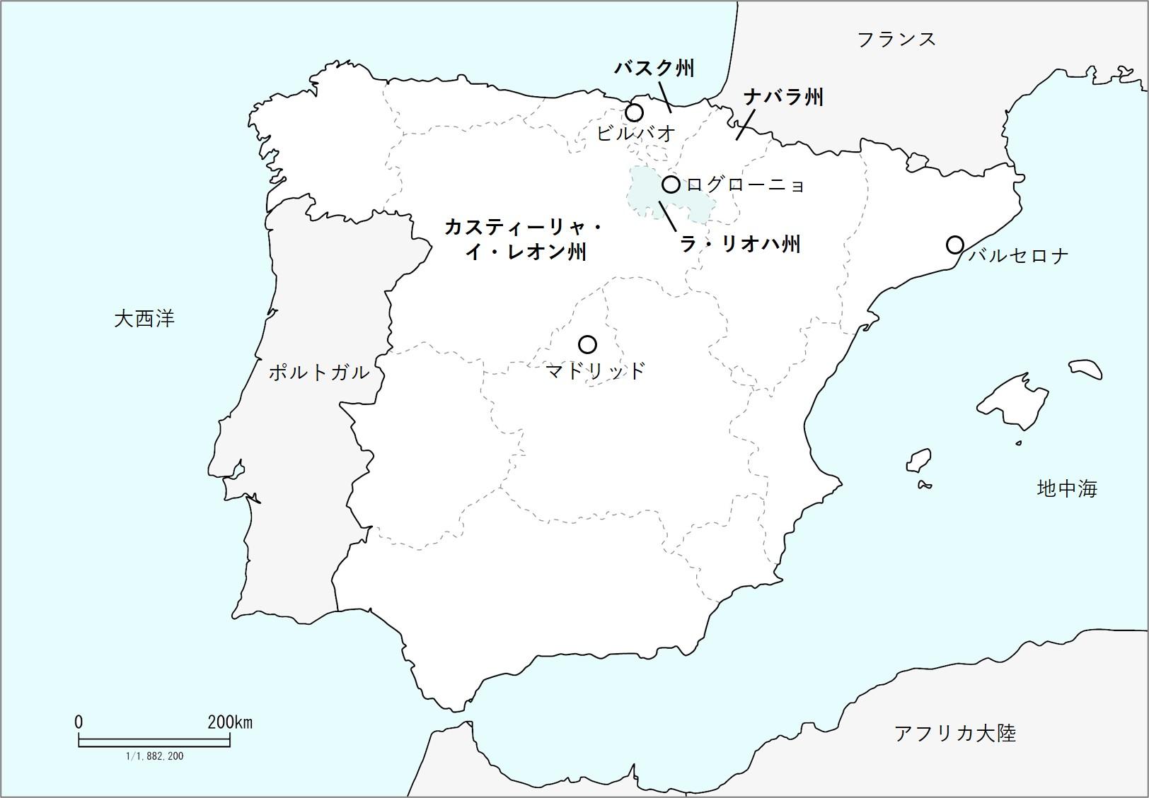 リオハの地図