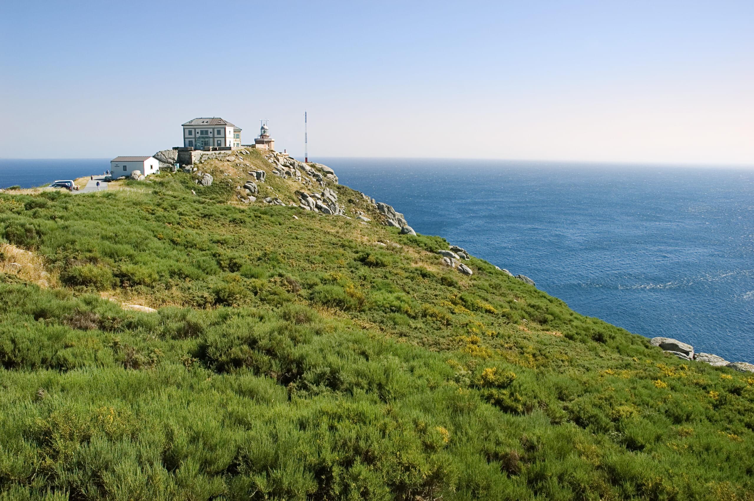 北スペインのサンティアゴ巡礼路の0㎞道標があるフィステラ岬