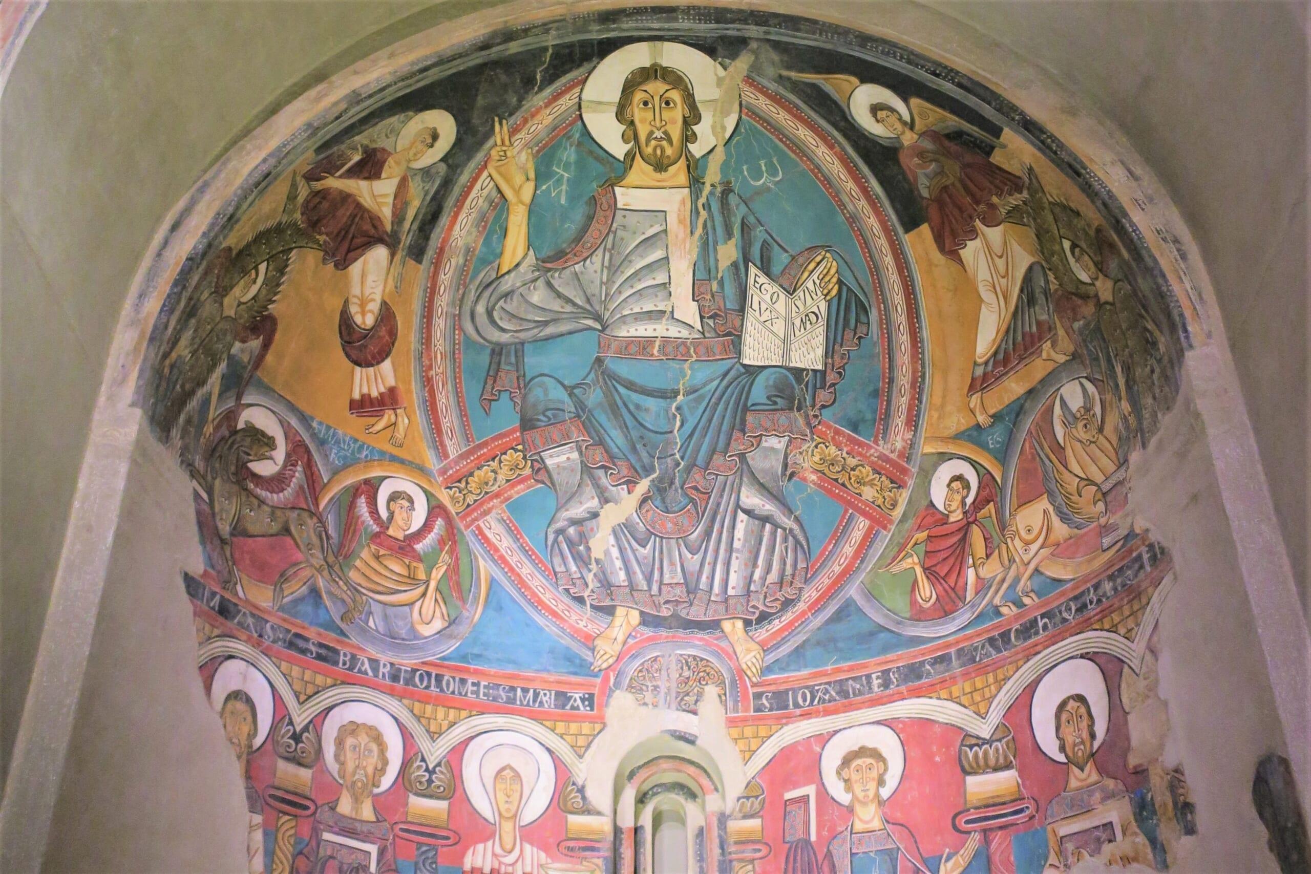 北スペインのロマネスク様式の壁画
