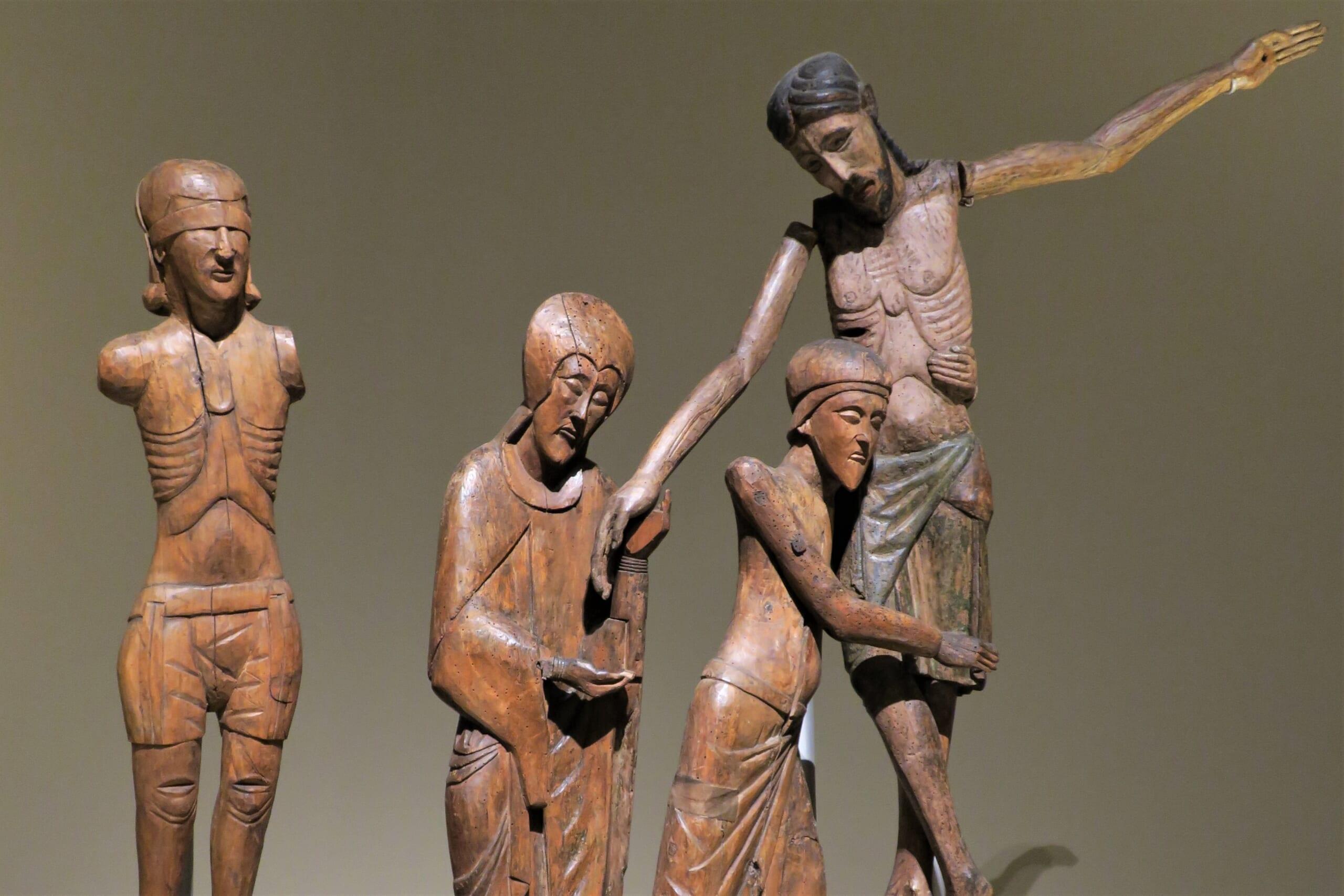 北スペインのロマネスク様式の木彫