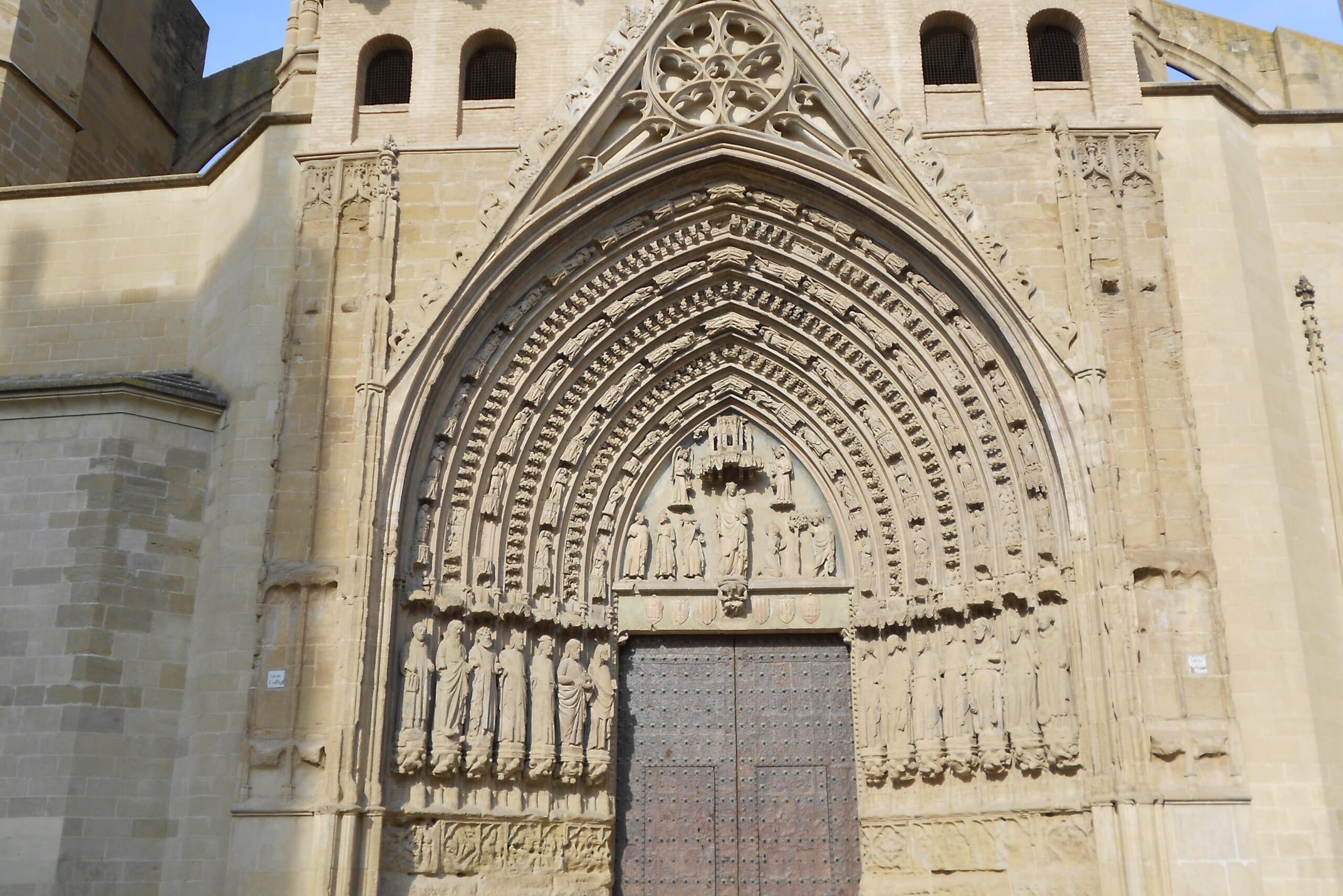 北スペインのゴシック様式の教会