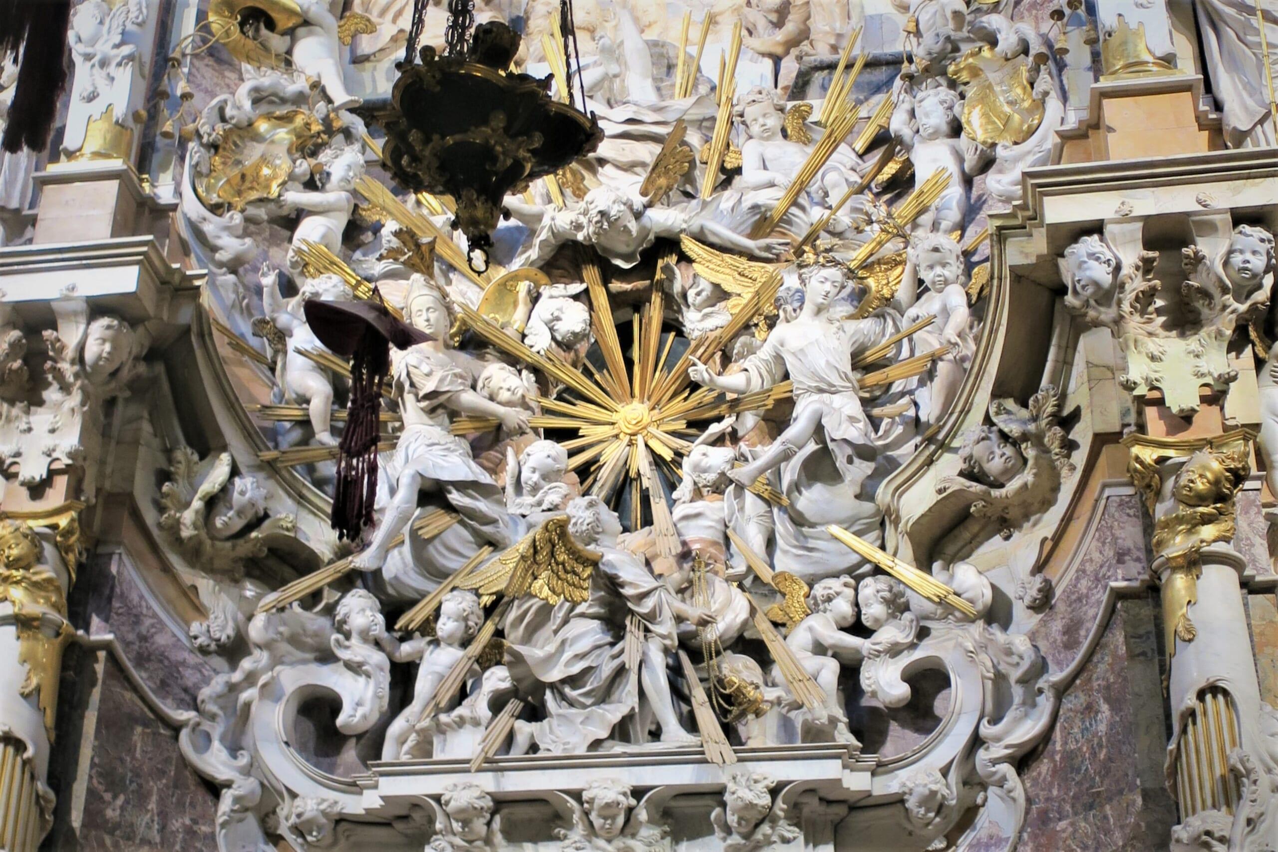 スペインのバロック様式の教会