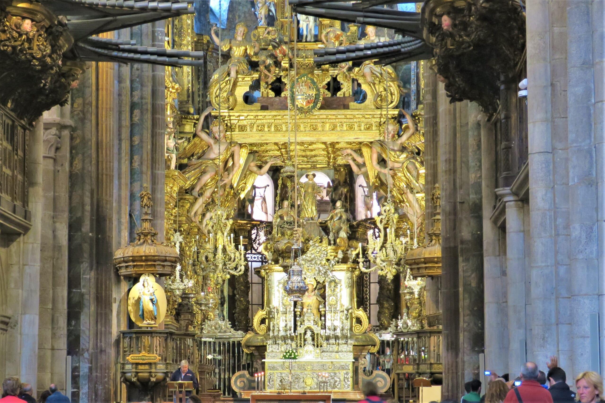 北スペインのバロック様式の祭壇
