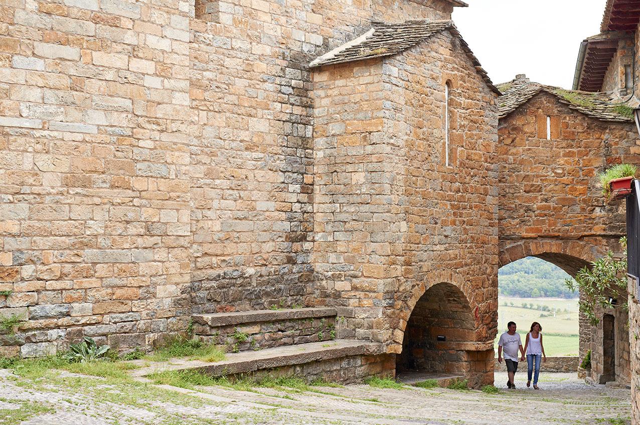 北スペインの石造りの町並み