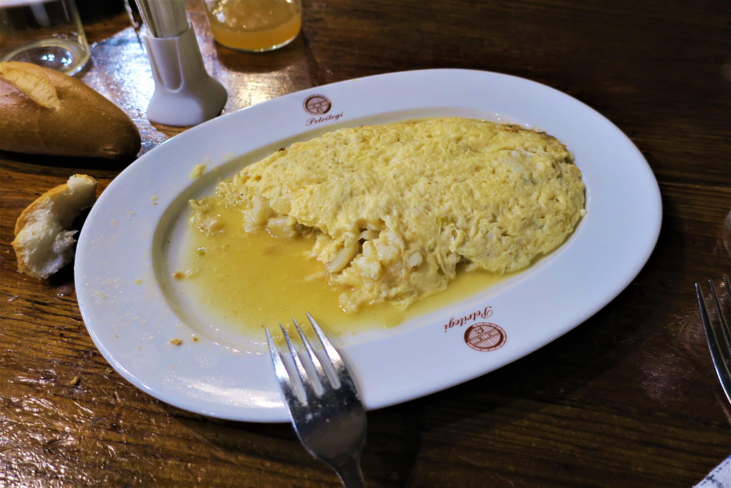バスクで良く食べるタラのトルティーリャ