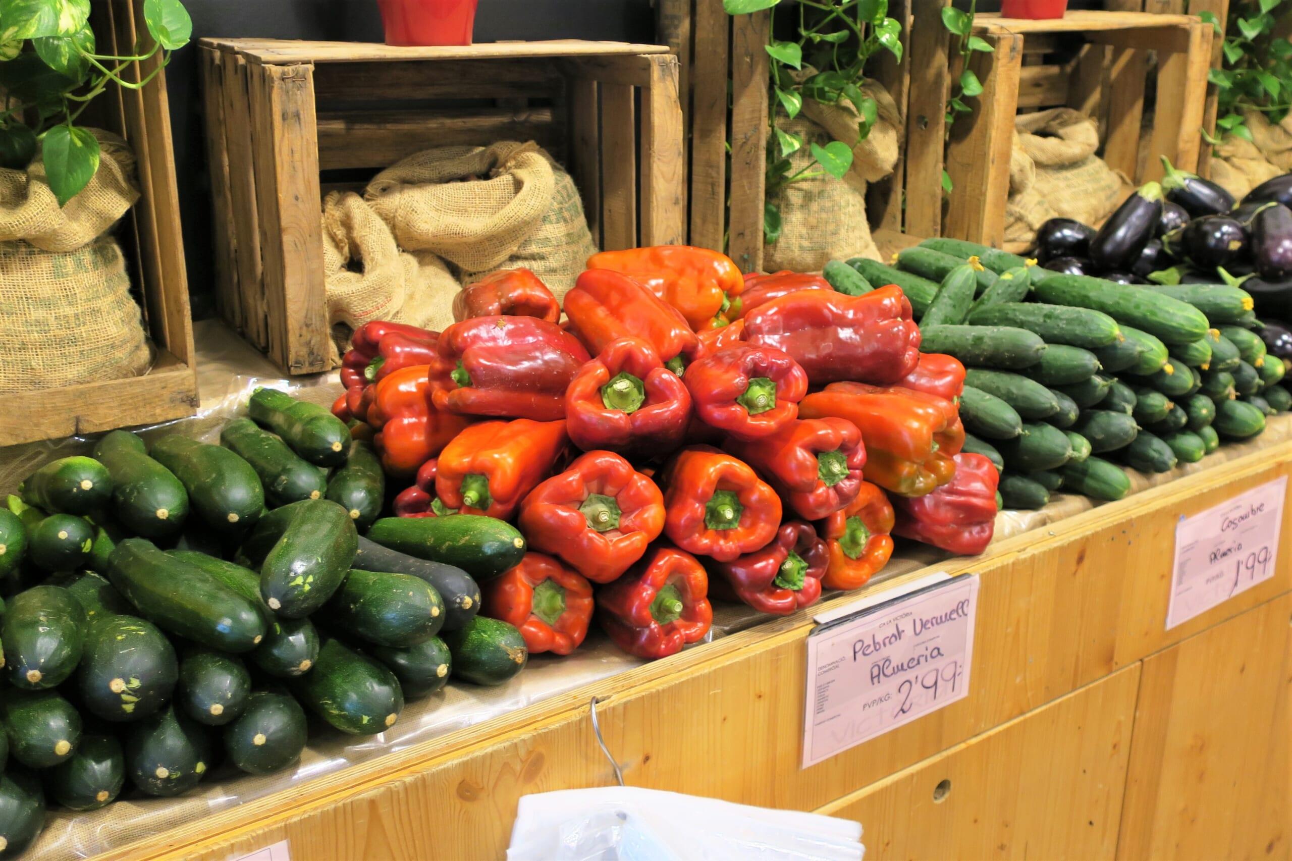 北スペインのカタルーニャの夏野菜